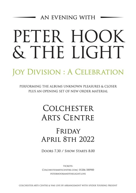 Peter Hook & The Light: Joy Division - A Celebration *